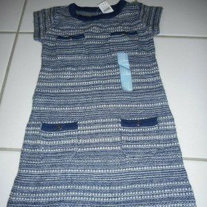 3/$20 New BABY GAP Girl 4 Years Blue Sweater Dress